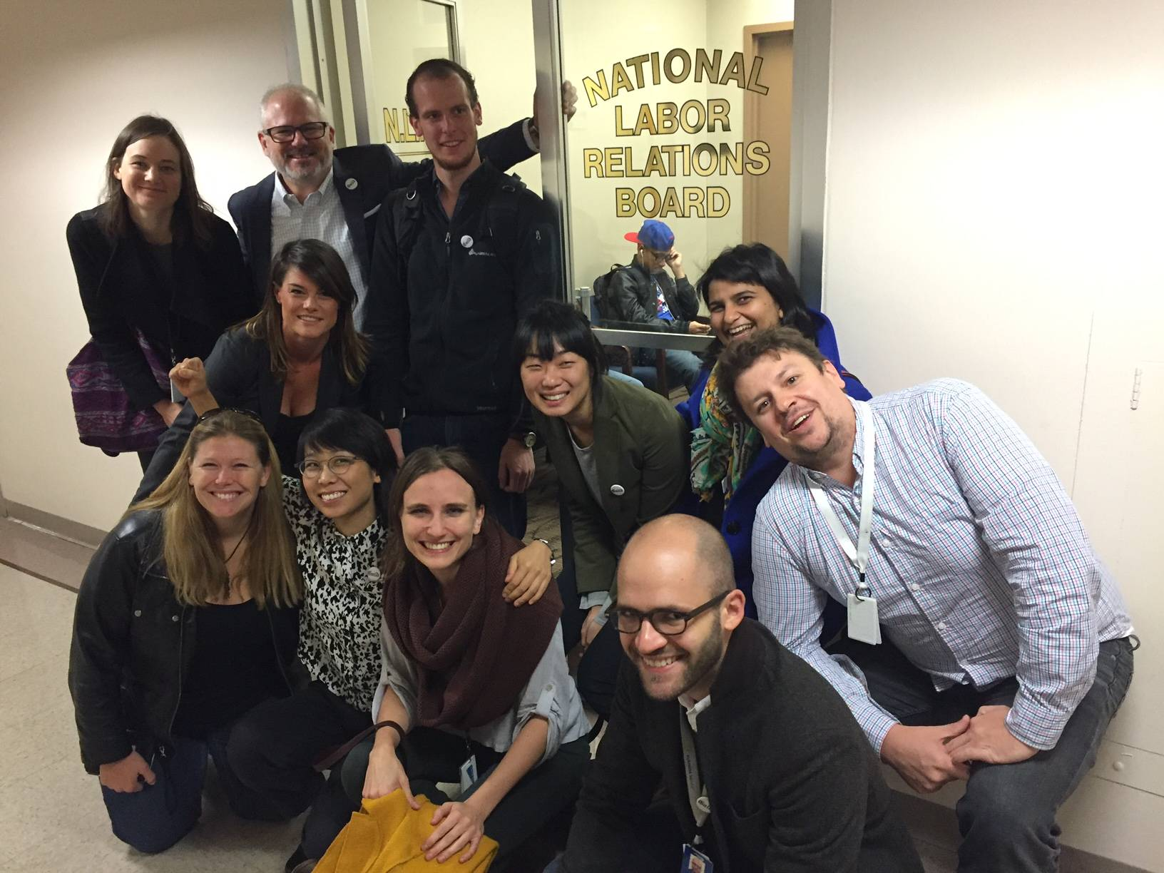 Al Jazeera America digital journalists on Oct. 6, after a tally by the National Labor Relations Board's Manhattan office showed that an overwhelming majority of them voted for representation by The NewsGuild of New York.